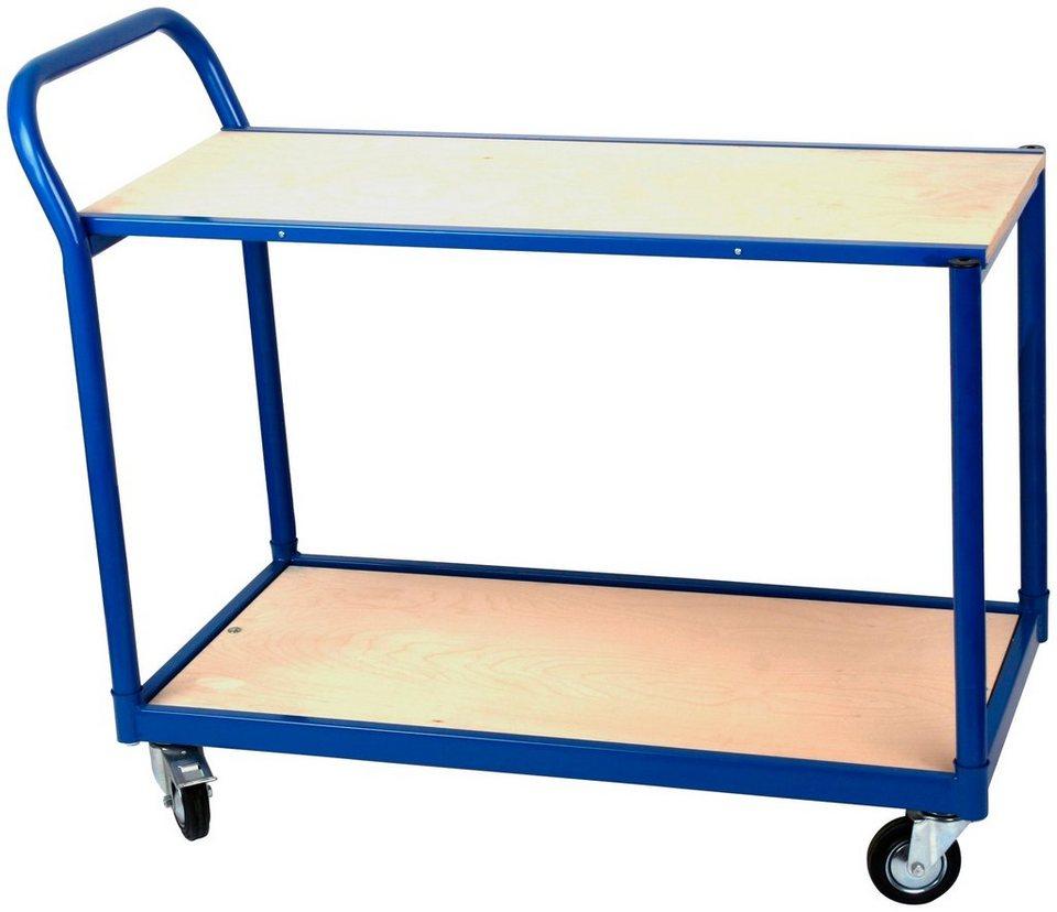 Transportwagen »Professional«, Tischwagen mit 2 Böden in blau