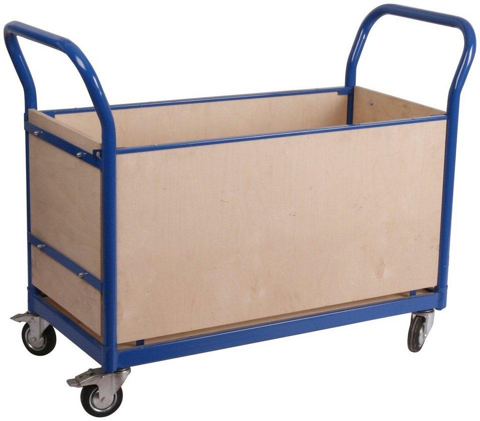 Transportwagen »Professional«, Vierwandschutz in blau