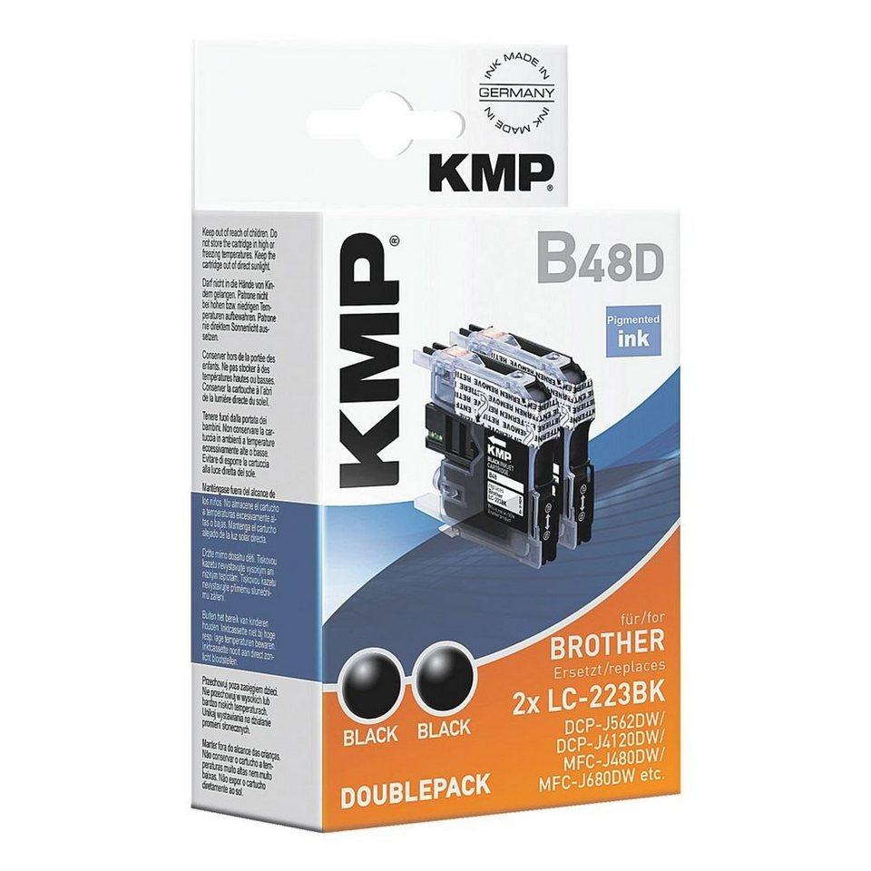 KMP 2-er Pack Tintenpatronen ersetzt Brother »LC-222BK«