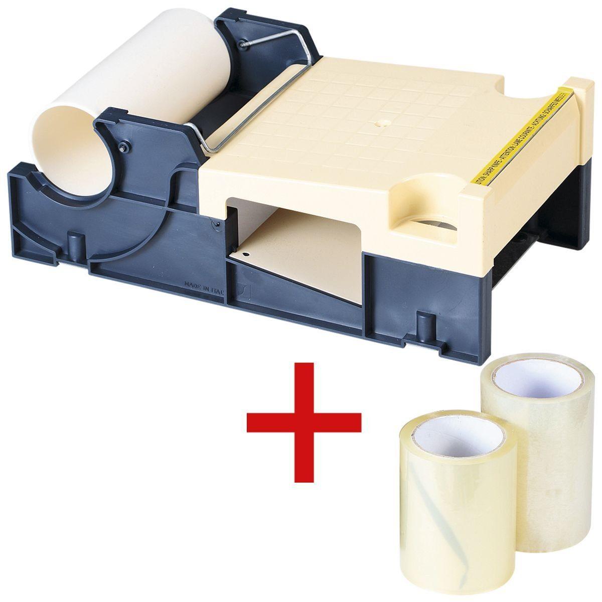 Abrollgerät für Etiketten-Schutzfolien inkl. 2 Schu... (1 Set)