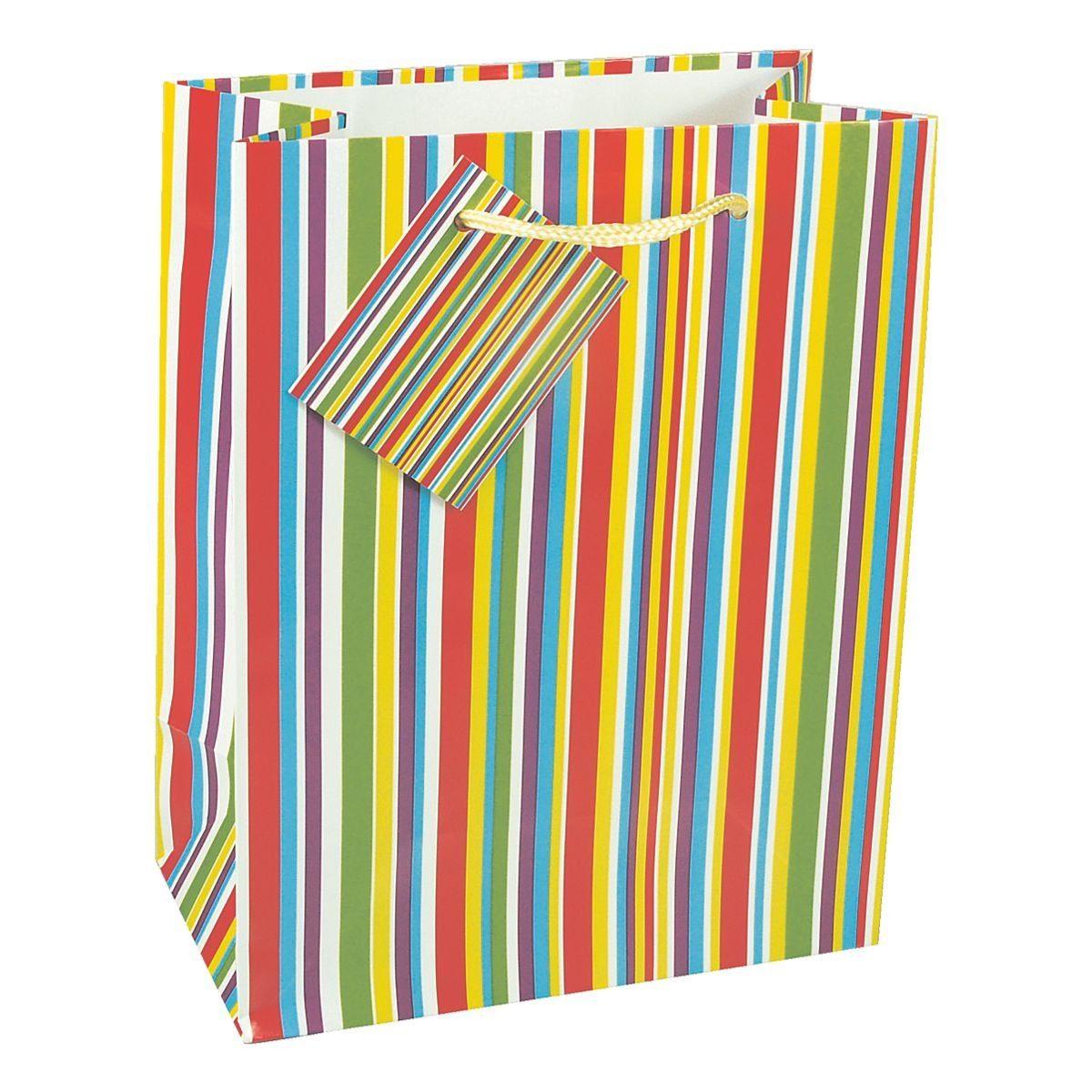 PAPSTAR 10 Lacktragetaschen »Streifen«