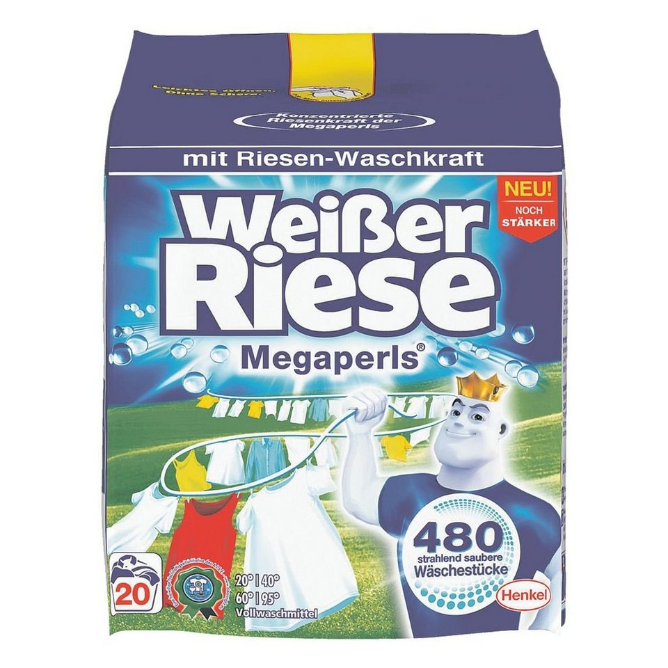 Henkel Waschmittel »Weißer Riese Megaperls«
