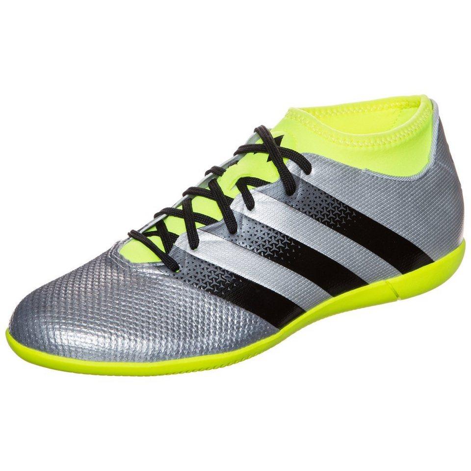 adidas Performance ACE 16.3 Primemesh Indoor Fußballschuh Herren in silber / schwarz