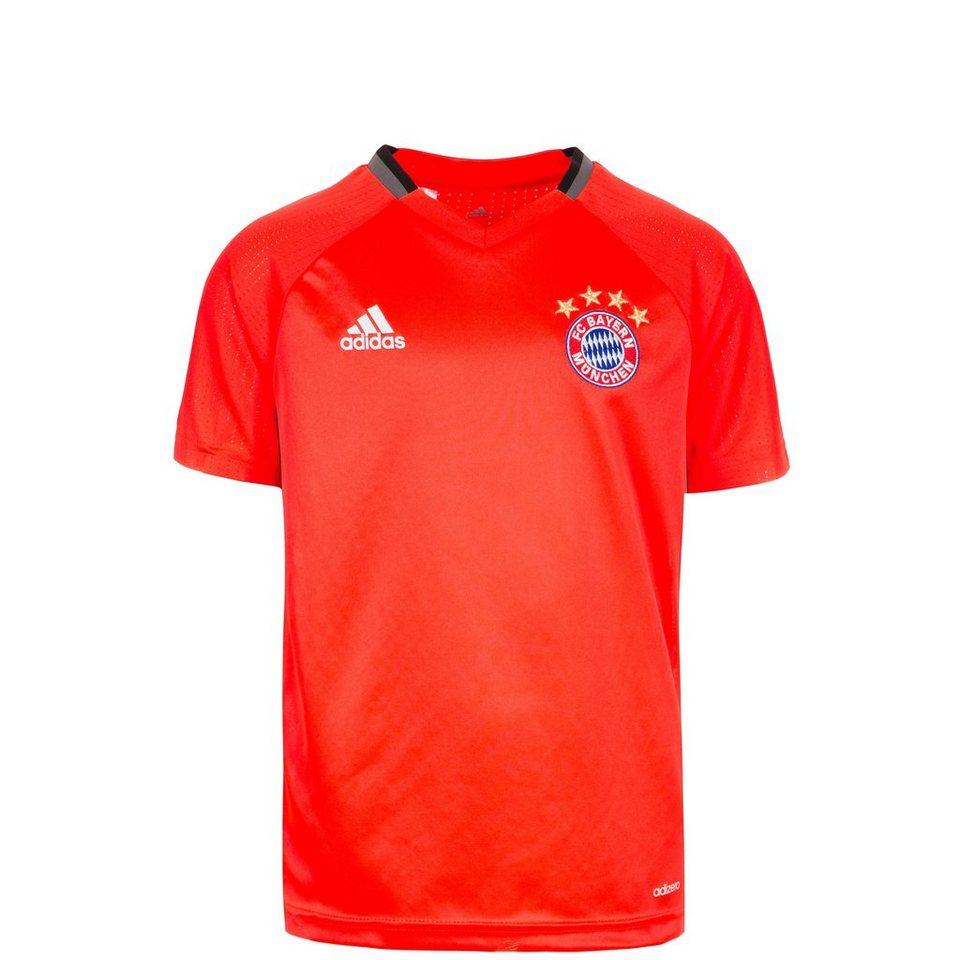 adidas Performance FC Bayern München Trainingsshirt Kinder in neonrot / schwarz