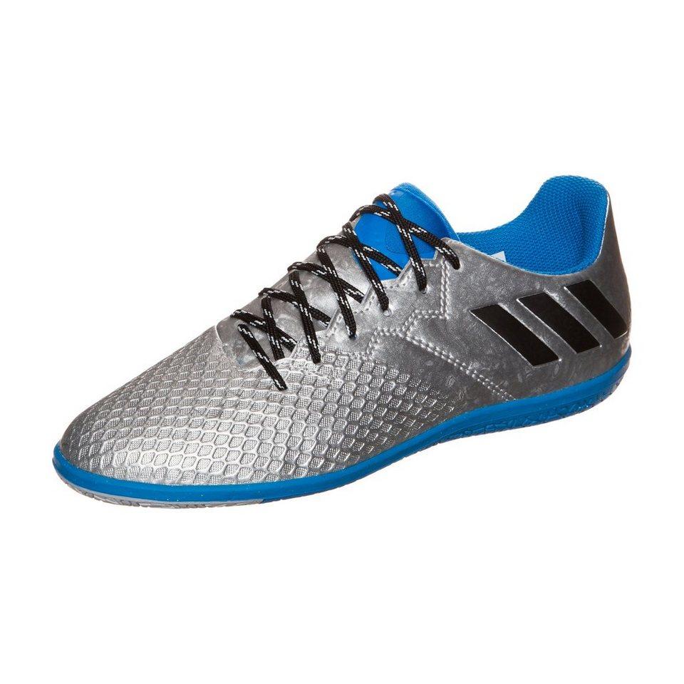 adidas Performance Messi 16.3 Indoor Fußballschuh Kinder in silber / schwarz