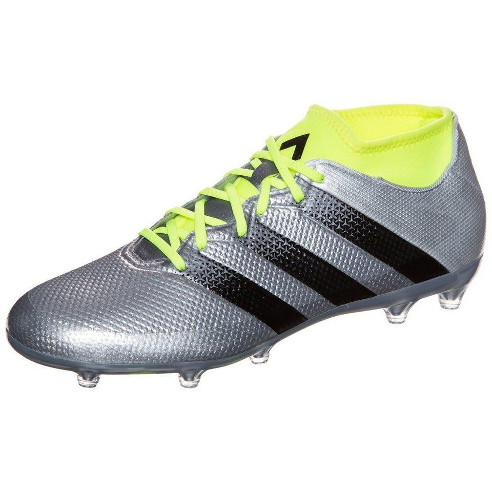 adidas Performance ACE 16.2 Primemesh FG/AG Fußballschuh Herren in silber / schwarz