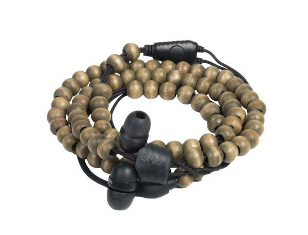 Midbass Headset »Natural Wooden Beads Wrap Walnut w/Mic« in braun