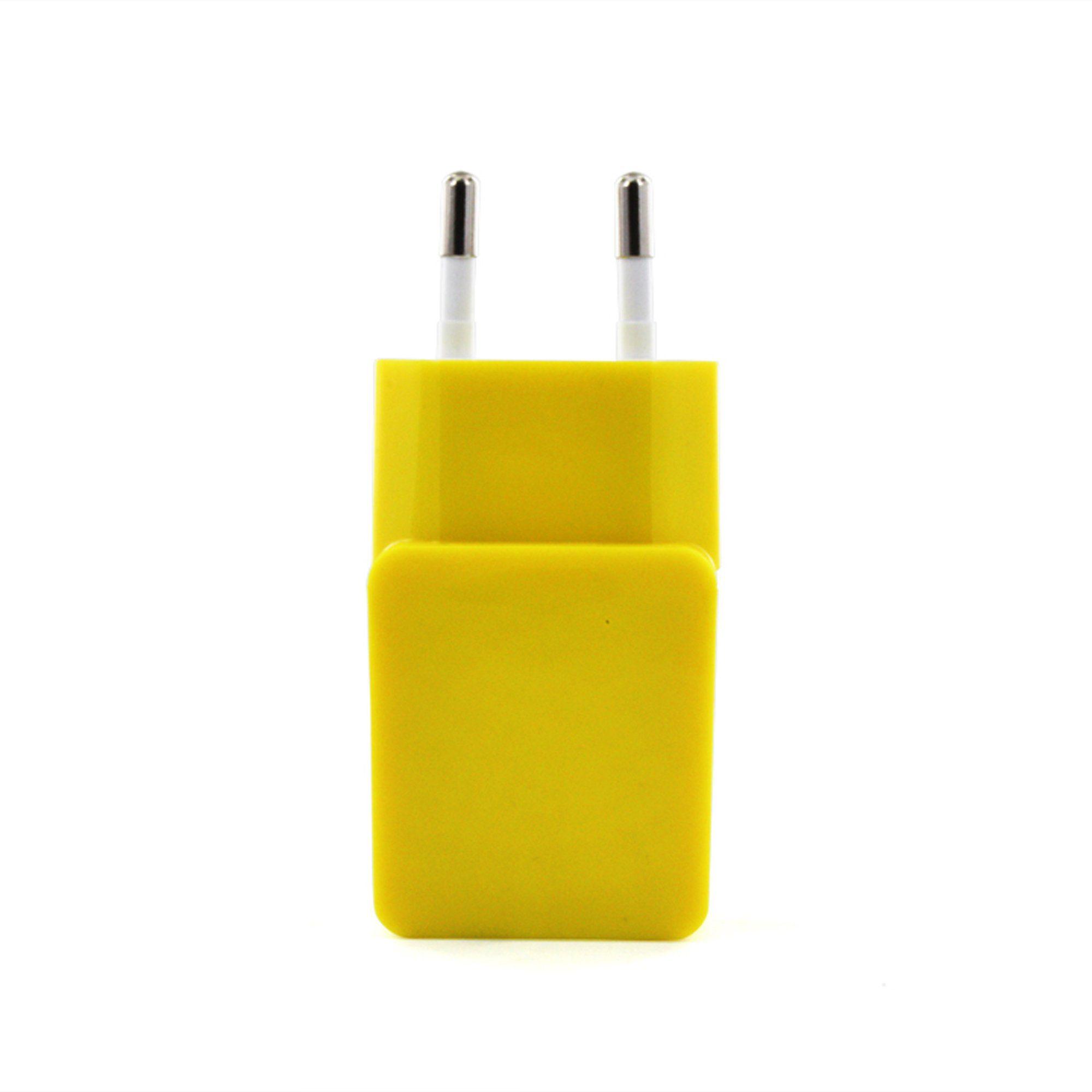 connect IT Ladegerät »IT Colour Line USB Netzteil 1A Gelb«