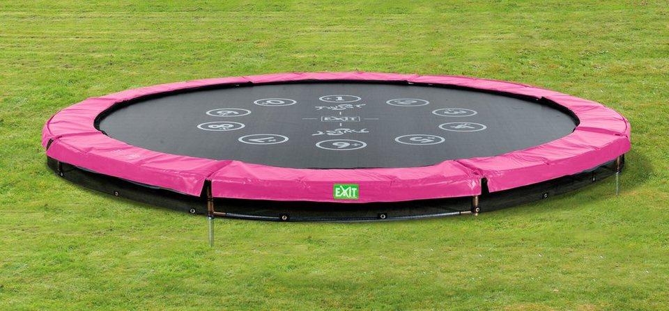 Trampolin »EXIT Twist Ground«, ø 366 cm Rosa/Grau