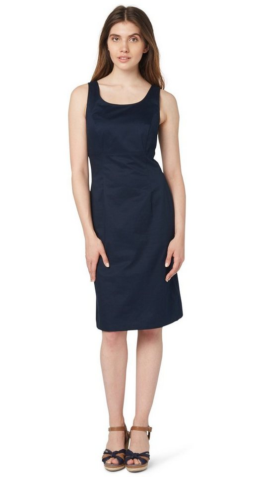 TOM TAILOR Kleid »elegantes Satin-Sommerkleid« in real navy blue