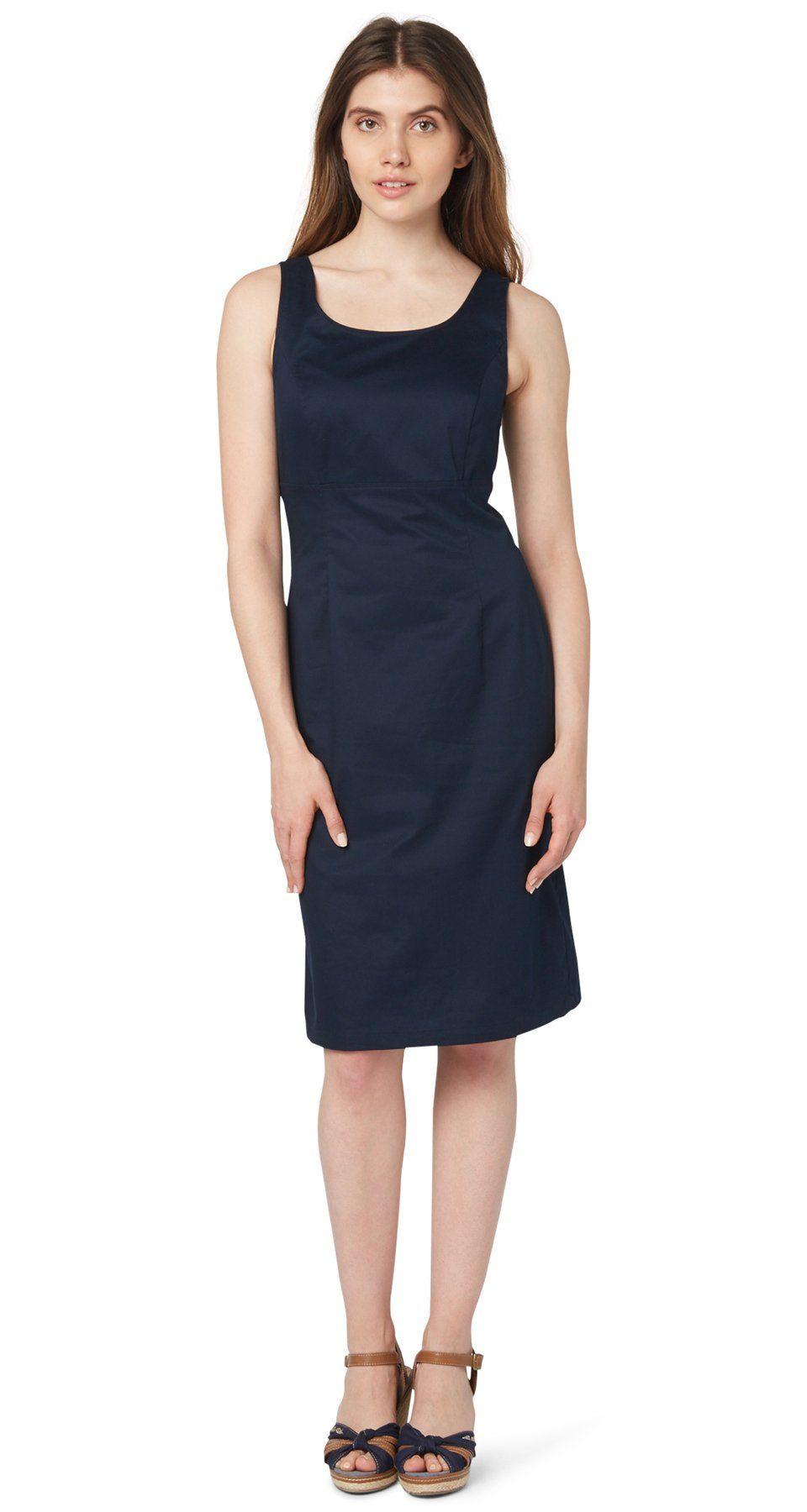 TOM TAILOR Kleid »elegantes Satin-Sommerkleid«