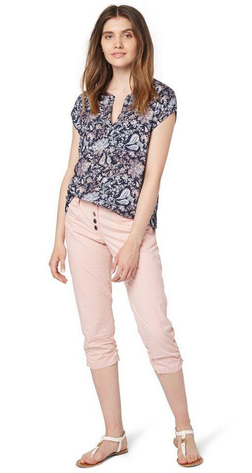 TOM TAILOR Hose »3/4 Hose mit Knitter-Effekt« in cherry blossom pink