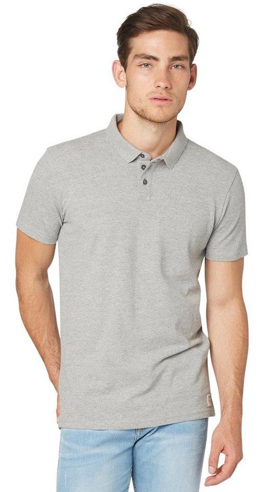 TOM TAILOR DENIM Poloshirt »classic piqu« in melange