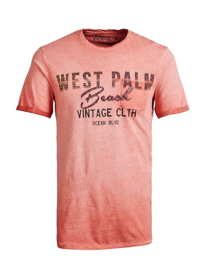 Jack & Jones Bedrucktes T-Shirt in Ketchup