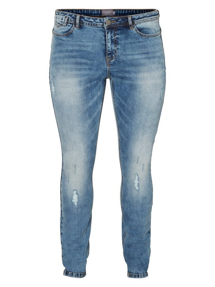JUNAROSE JRFIVE Slim Fit Jeans in Medium Blue Denim