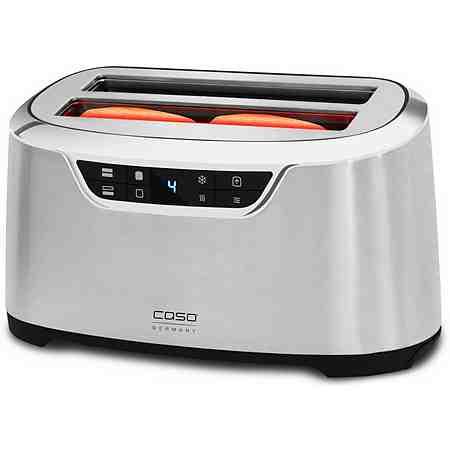 caso Germany Toaster CASO NOVEA T4, für 4 Scheiben, bis 1600 Watt, edelstahl