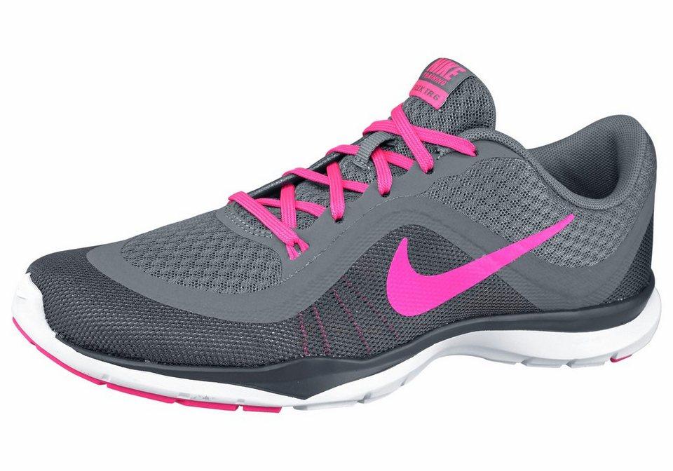 Nike »Flex Trainer 6 Wmns« Fitnessschuh in anthrazit-neonpink