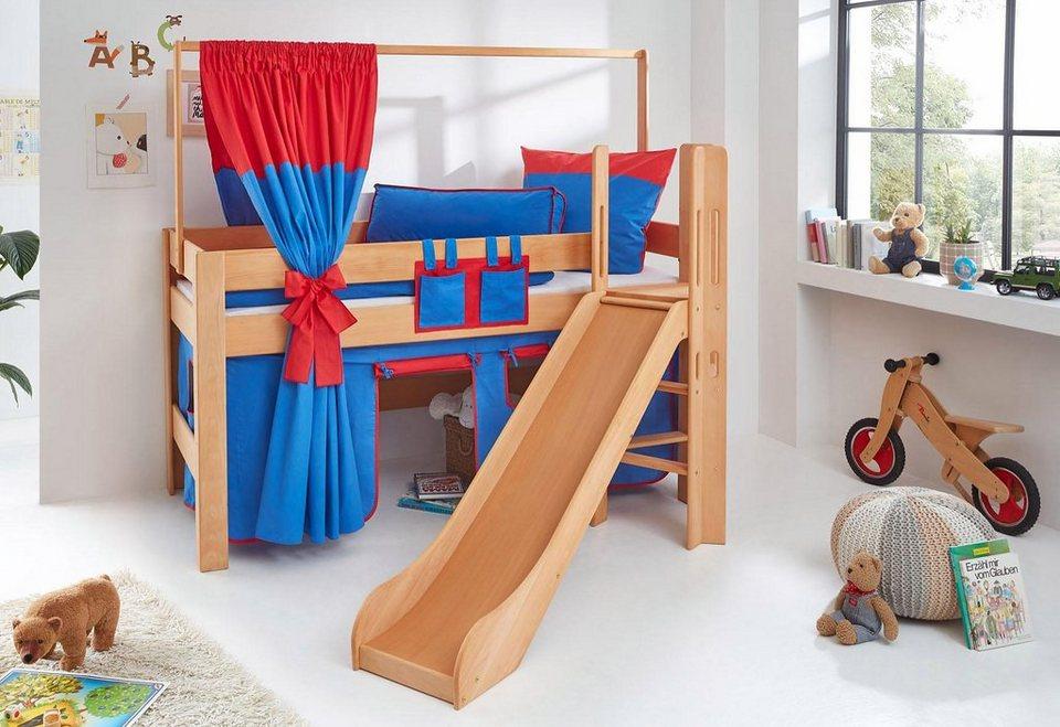 Relita halbhohes Bett »Leo« in blau-rot