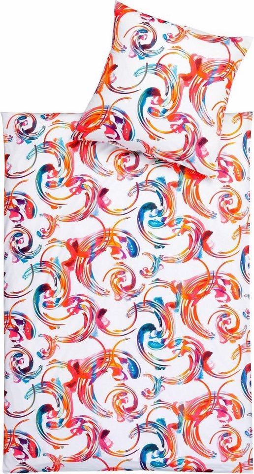 Bettwäsche, Estella, »Miracle«, im trendigen Design in rot