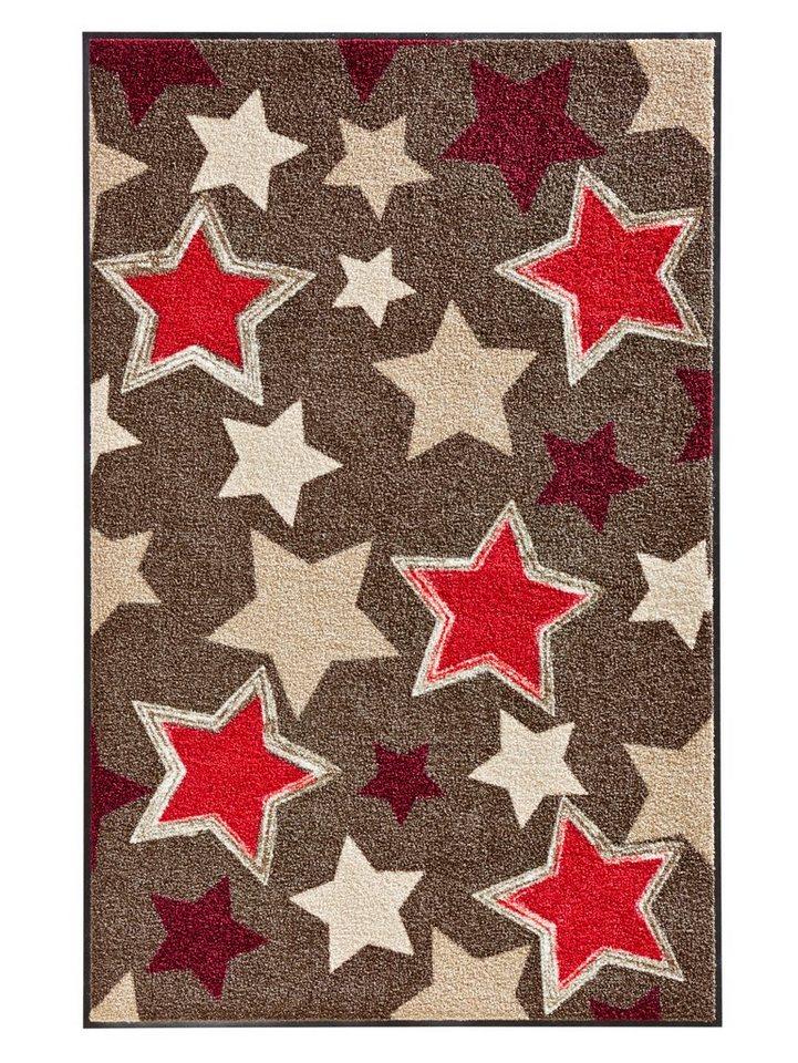 Fußmatte in braun/rot