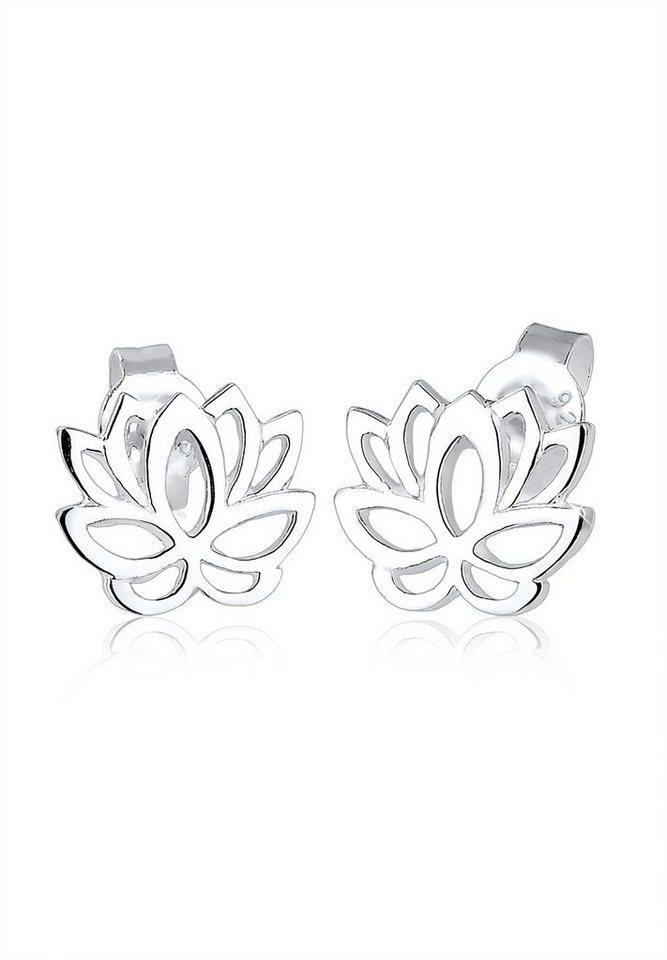 Elli Ohrringe »Silber Lotusblume« in Silber