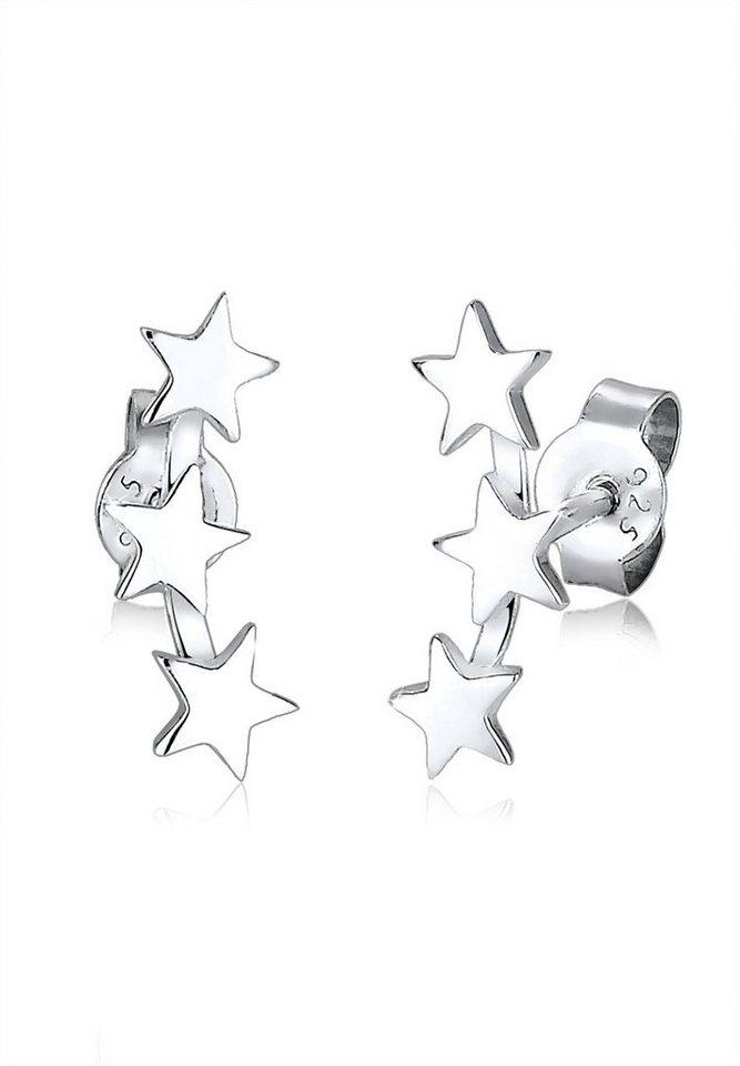 Elli Ohrringe »Sterne Astro Trend Star Sternenbild 925 Silber« in Silber