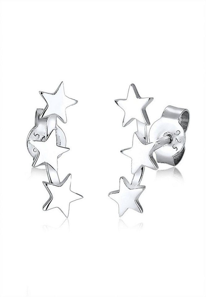 Elli Ohrringe »Sterne« in Silber