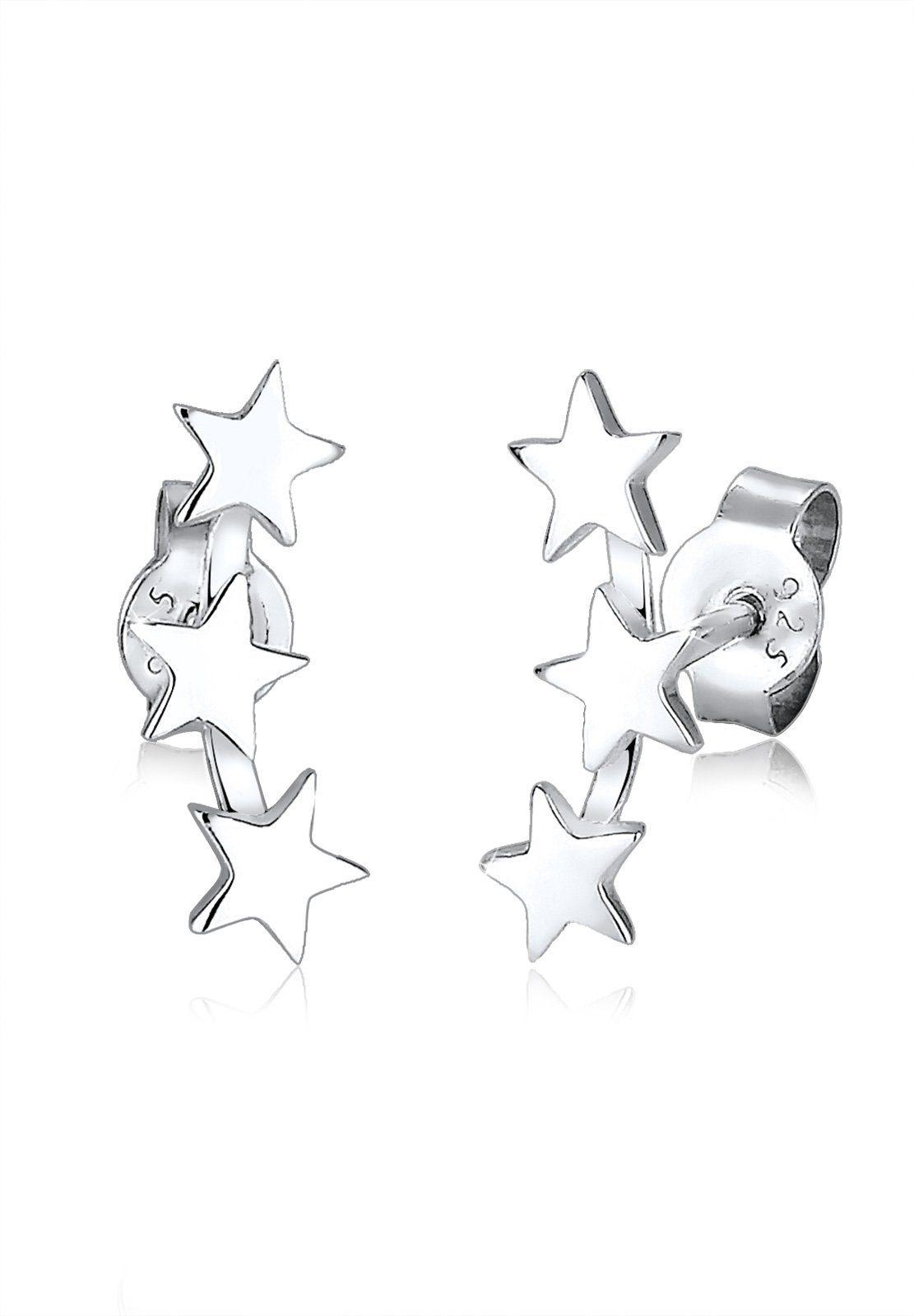 Elli Ohrringe »Sterne Astro Trend Star Sternenbild 925 Silber«