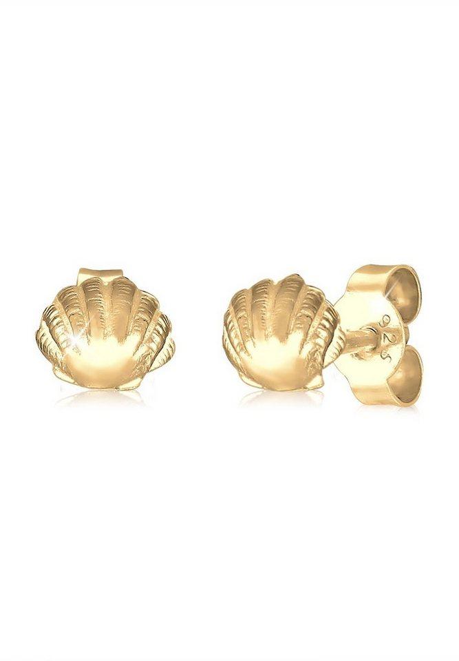 Elli Ohrringe »Muschel« in Gold