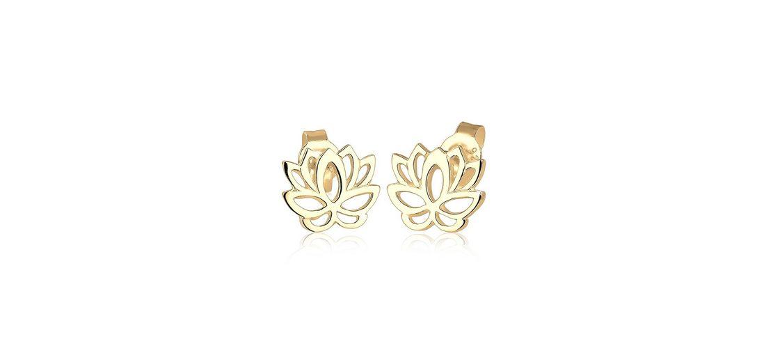 Elli Ohrringe »Lotusblume vergoldet«