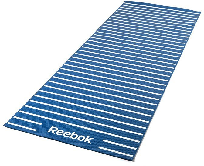 Reebok Yogamatte, »Double Sided 4 mm Yoga Mat Stripes Blue« in blau