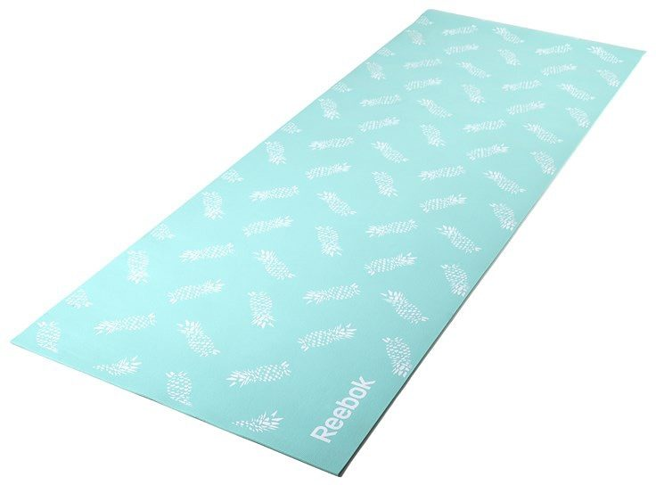 Reebok Yogamatte, »Double Sided 4 mm Yoga Mat Stripes Crystal Blue«