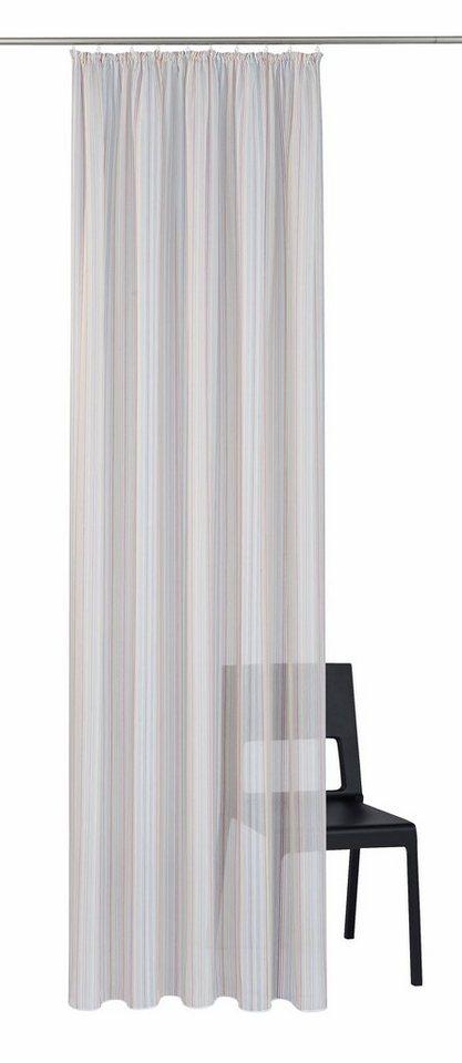 Gardine, ADO Goldkante, »Celine«, mit Kräuselband, nach Maß in Multi-Colour