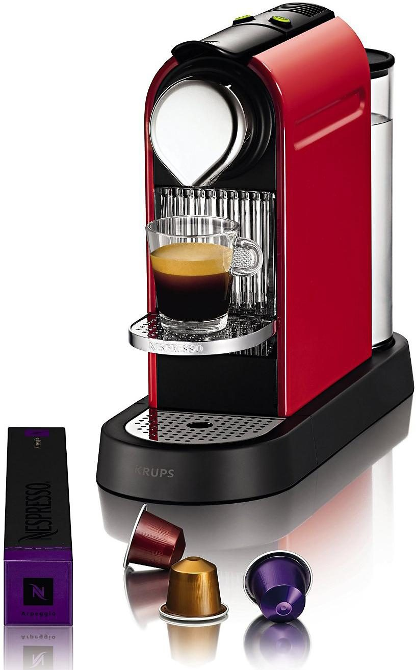 Krups NESPRESSO Kaffeekapselmaschine »New CitiZ XN7205«, Fire-Engine Red