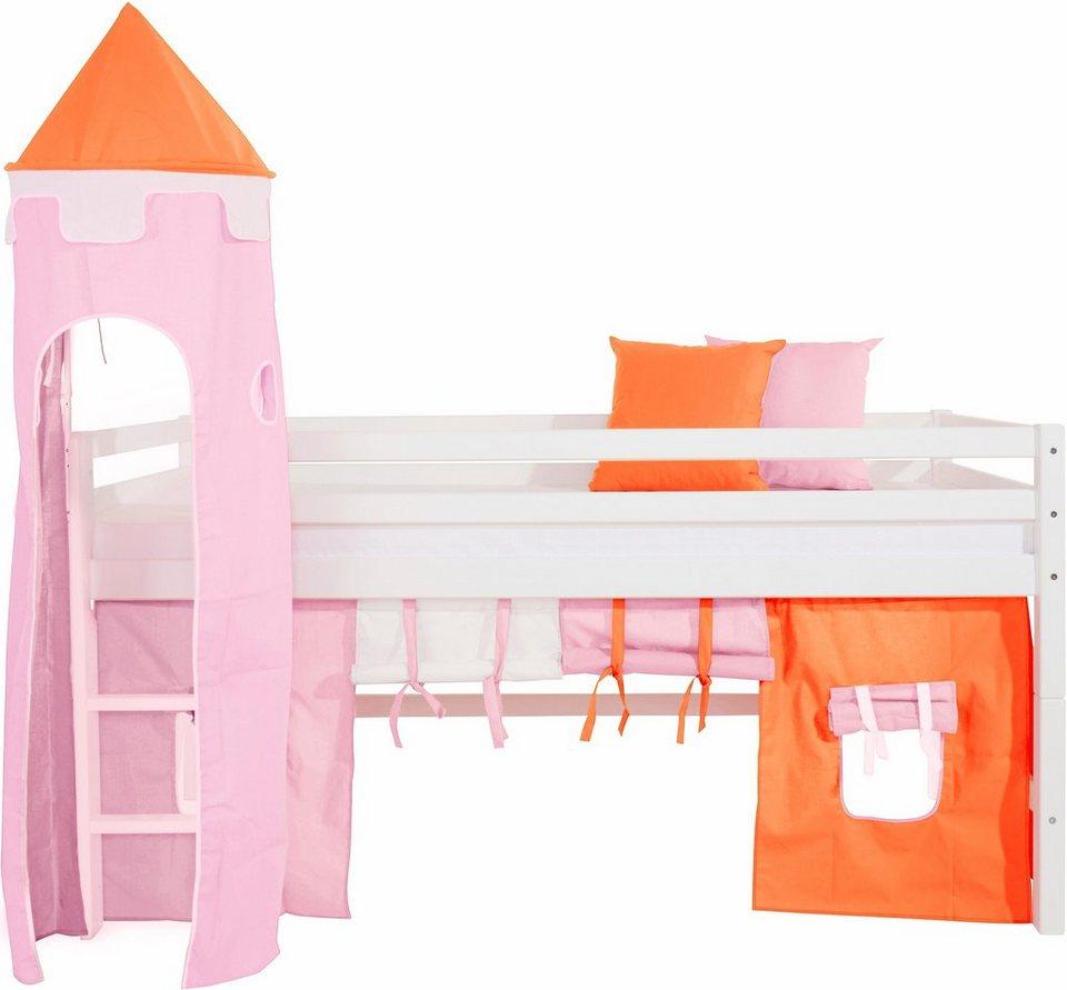 Hoppekids Vorhang-Set »Multicolor« (4-tlg.) in rosa