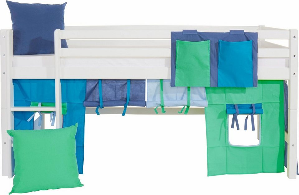 Hoppekids Vorhang-Set »Multicolor« (4-tlg.) in blau