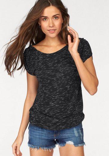 LASCANA T-Shirt mit Schulterraffung