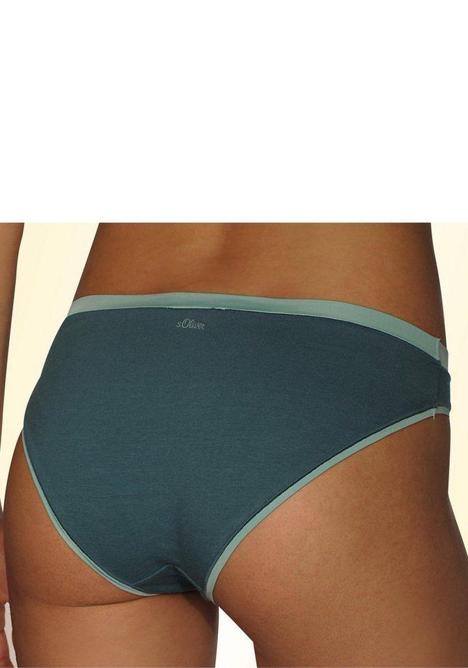 s.Oliver RED LABEL Bodywear Bikinislips mit Microfaser-Einfassungen (3 Stück)