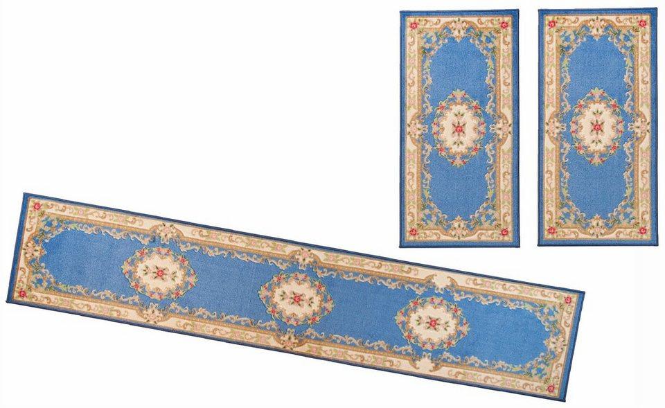 Orient-Bettumrandung 3tlg., Theko, »Versailles 501« in blau