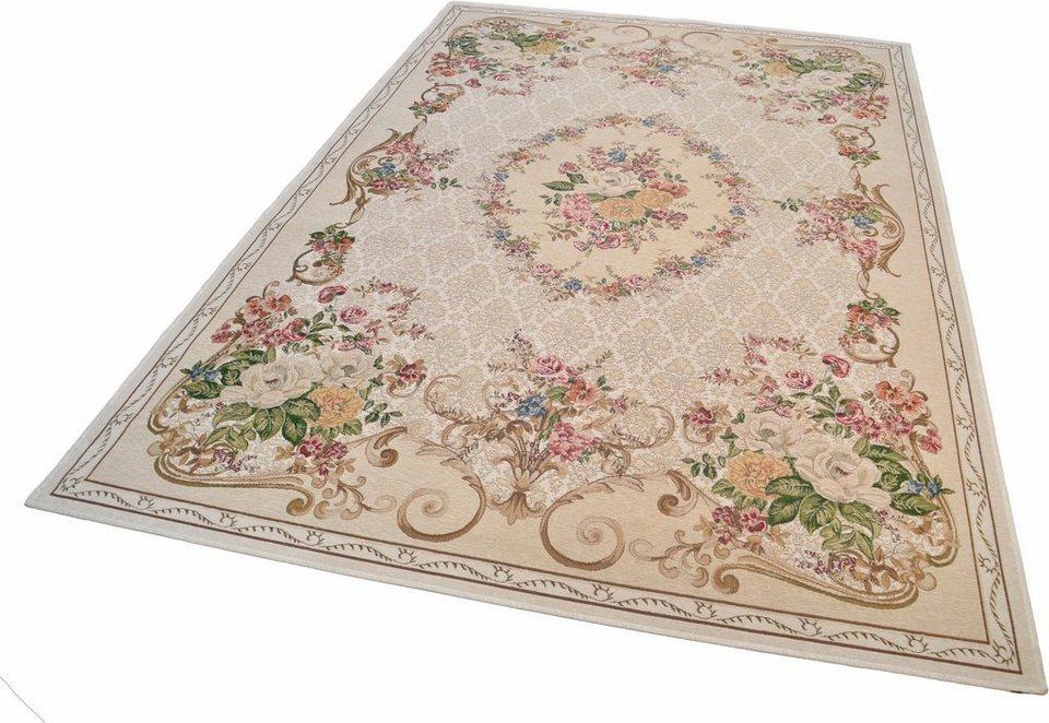 Teppich, Theko, »Flomi Floral«, gewebt in beige