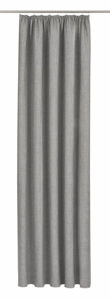 Vorhang, ADO Goldkante, »Sleep Dim-Out«, mit Kräuselband, nach Maß in Silber Melange