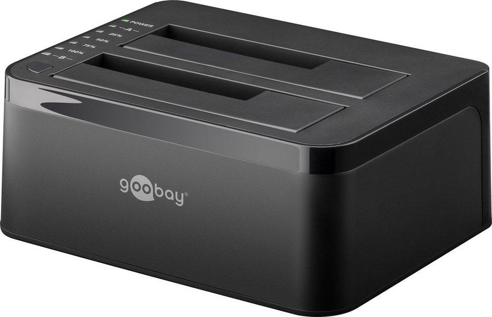 goobay Festplatten Dockingstation »SATA HDD Dual« in schwarz