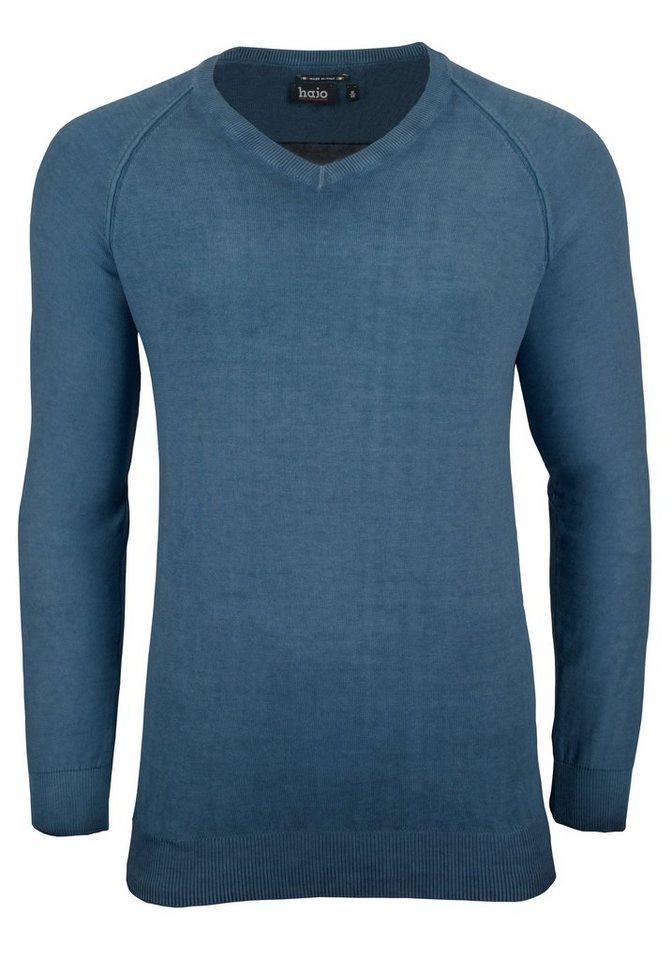 Hajo V-Pullover in jeans