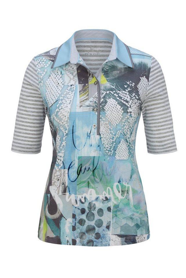 Rabe Poloshirt mit Animalprint und Mustermix in TOPAS