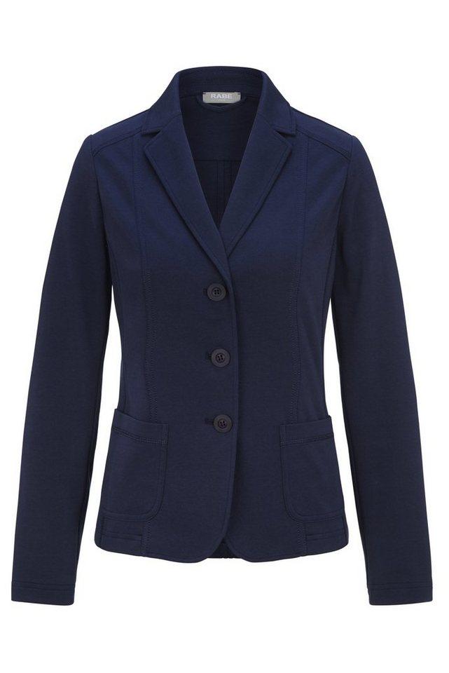 Rabe Jacke mit Kontrastnähten im Blazer-Design in DEEP BLUE