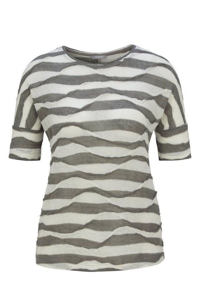 Rabe Strukturiertes Shirt im Wellendesign mit Halbarm in SCHILF