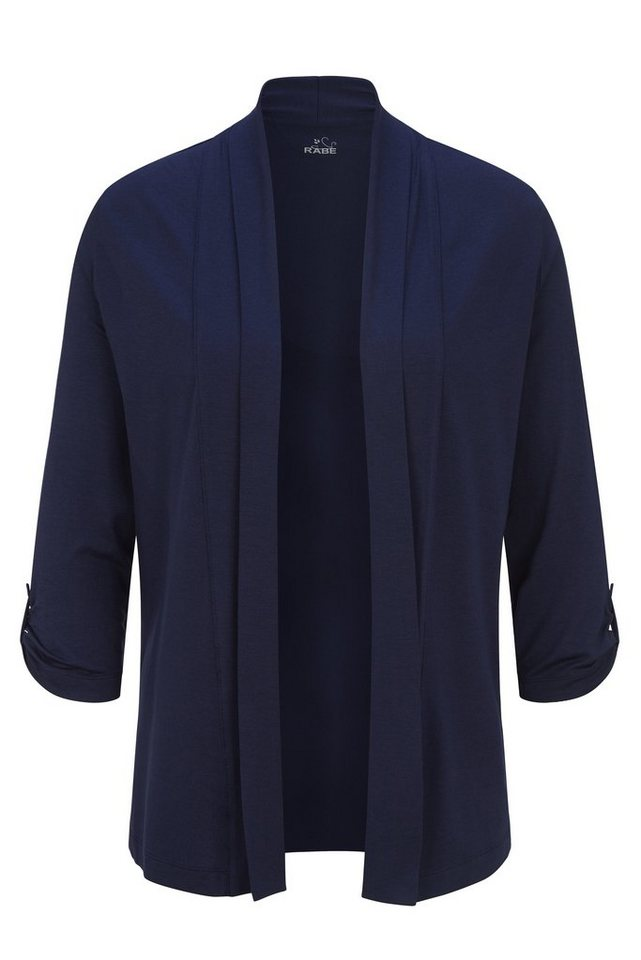 Rabe Pflegeleichter Cardigan aus Feinstrick ohne Verschluss in DEEP BLUE