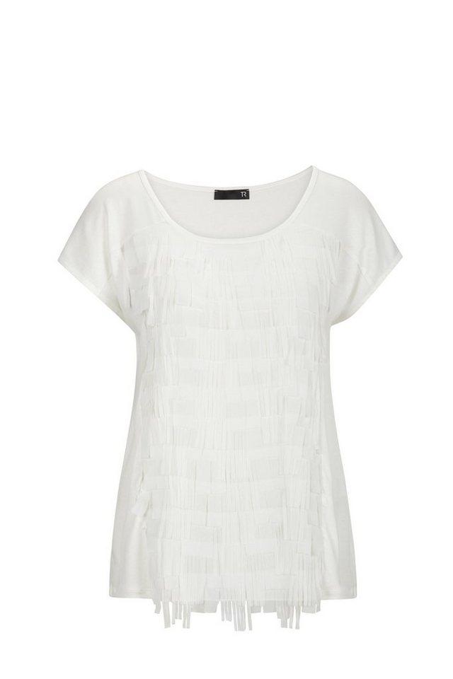 Thomas Rabe Shirt mit breiten Stofffransen in NATUR