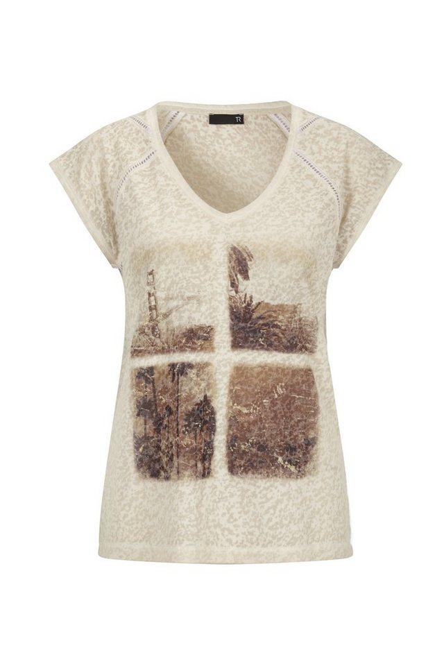 Thomas Rabe T-Shirt mit Motivdruck in MANDEL
