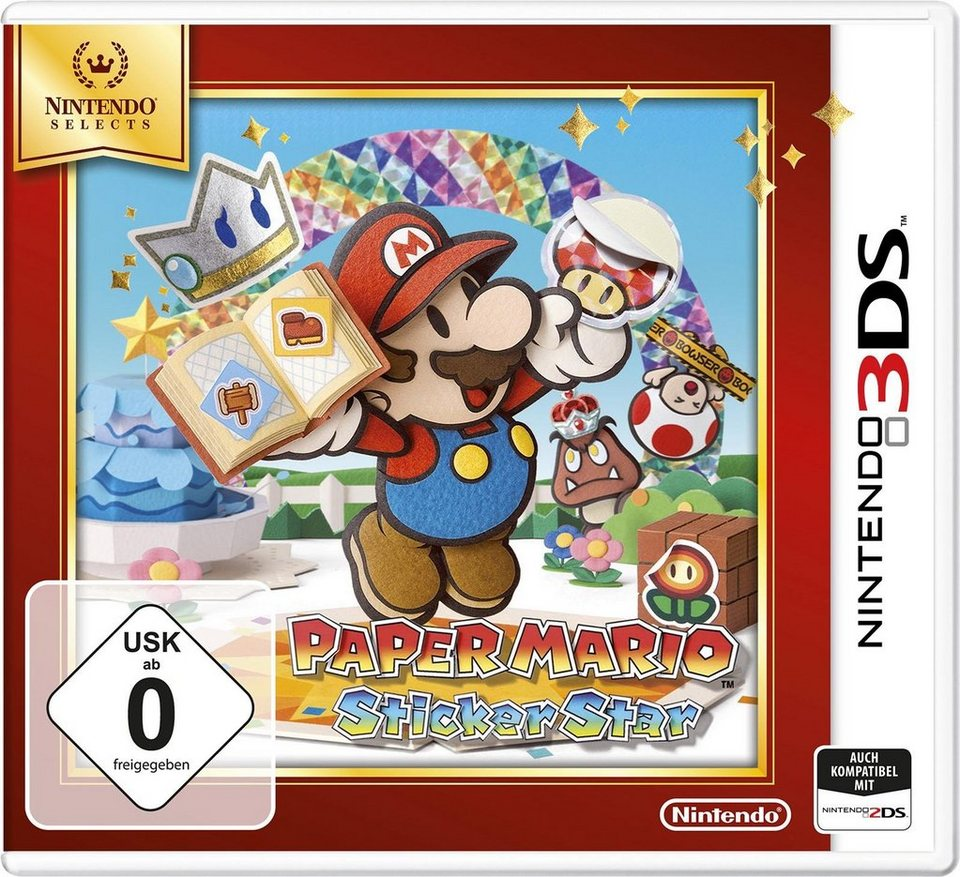 Paper Mario: Sticker Star Selects Nintendo 3DS